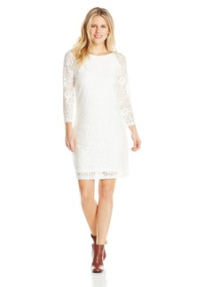 laundry BY SHELLI SEGAL Women's Lace Petite T-Body 3/ Sleeve Dress