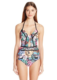 Laundry by Shelli Segal Women's Laguna Flora Cut Out One Piece Swimsuit  M