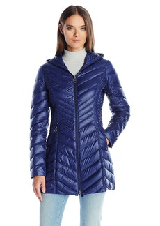 Laundry by Shelli Segal Women's Lightweight Coat With Hood  L