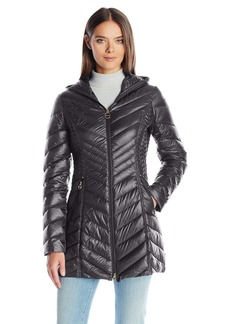 Laundry By Shelli Segal Women's Lightweight Coat With Hood  XS
