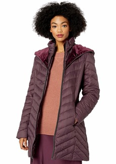 LAUNDRY BY SHELLI SEGAL Women's Lightweight Puffer Jacket with Velvet  Extra Small