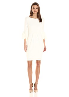 Laundry by Shelli Segal Women's Long Puffy Sleeve Cocktail