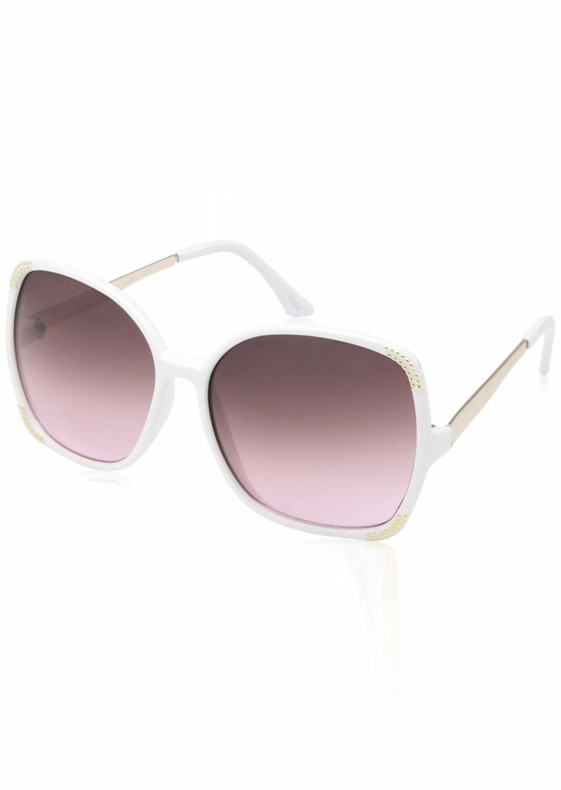 Laundry by Shelli Segal Women's Ls156 Wh Polarized Round Sunglasses