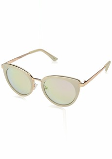 Laundry by Shelli Segal Women's Ls205 Wh Polarized Cateye Sunglasses