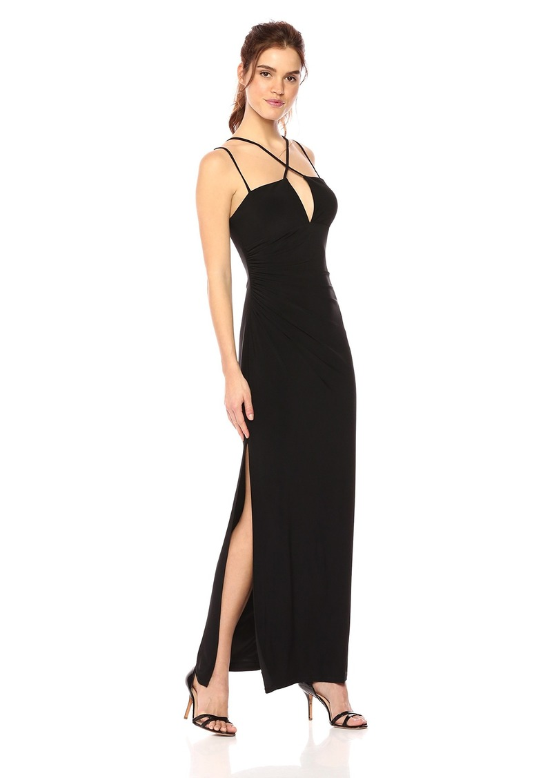 Laundry by Shelli Segal Women's Matte Jersey Criss Cross Front Gown