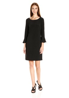 Laundry by Shelli Segal Women's Matte Jersey Flutter Sleeve Dress  L