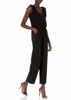 LAUNDRY BY SHELLI SEGAL Women's Matte Jersey Shoulder Tie Jumpsuit