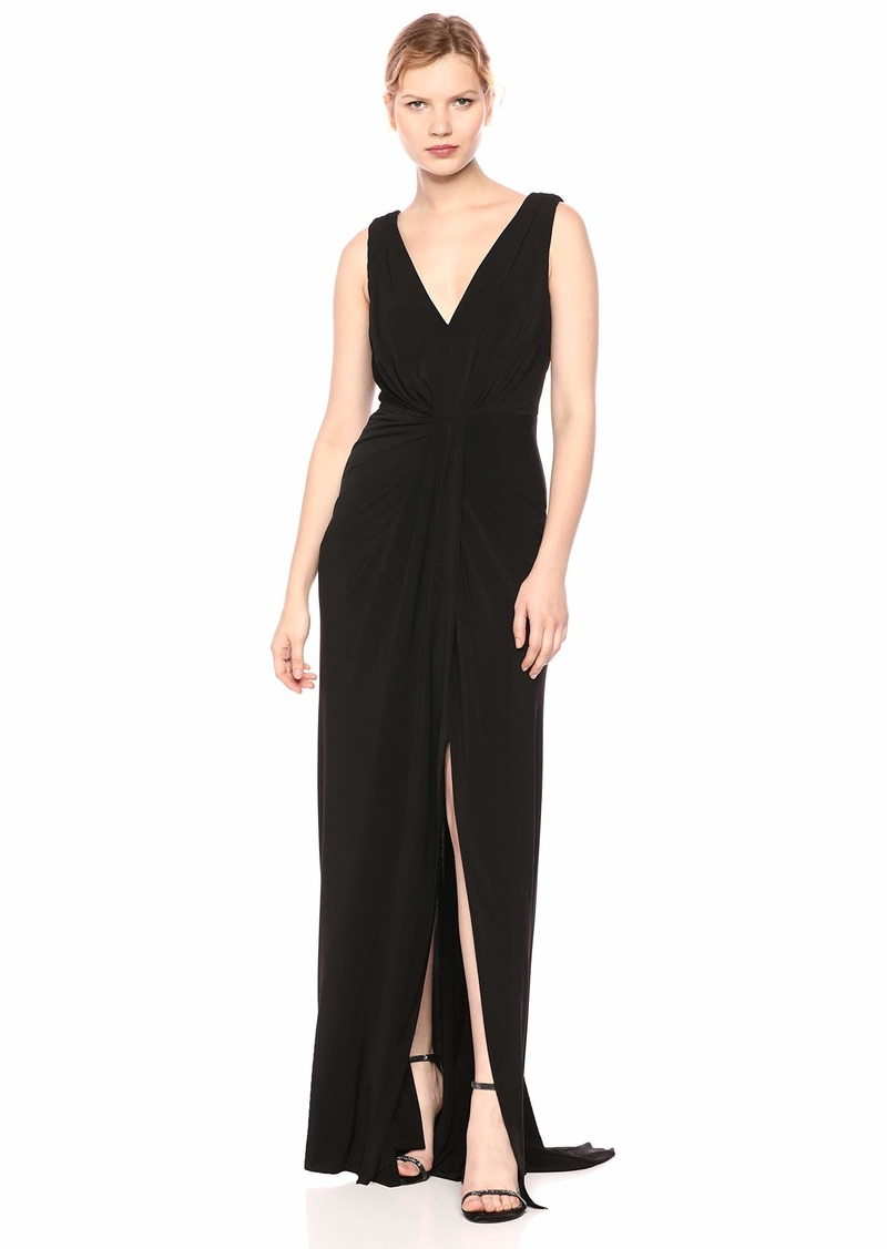 LAUNDRY BY SHELLI SEGAL Women's Matte Jersey V Neck Gown