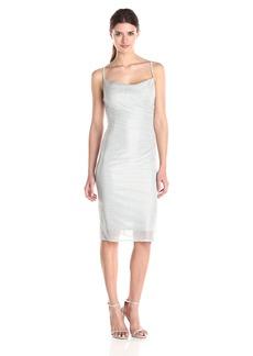 laundry BY SHELLI SEGAL Women's Metallic Skinny Strap Side-Shirred Tank Dress