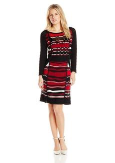 laundry BY SHELLI SEGAL Women's  Mixed Stitch Sweater Dress