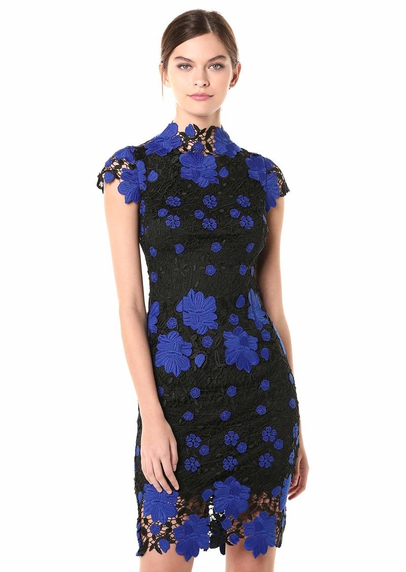 LAUNDRY BY SHELLI SEGAL Women's Mock Neck Lace Dress