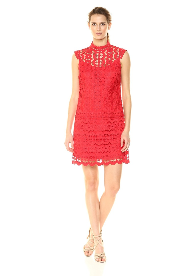 Laundry by Shelli Segal Women's Mock Neck Lace Dress