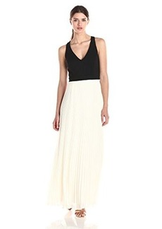 laundry BY SHELLI SEGAL Women's Multi Chiffon V-Neck Gown