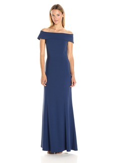 Laundry by Shelli Segal Women's Off Shoulder Crepe Gown