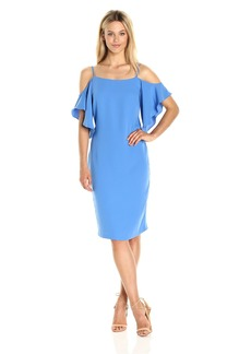 laundry BY SHELLI SEGAL Women's Off The Shoulder Cocktail Dress with Flutter Sleeve