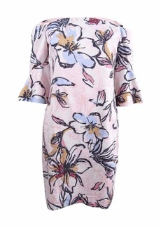 LAUNDRY BY SHELLI SEGAL Women's Off-The-Shoulder Floral Print Jacquard Dress