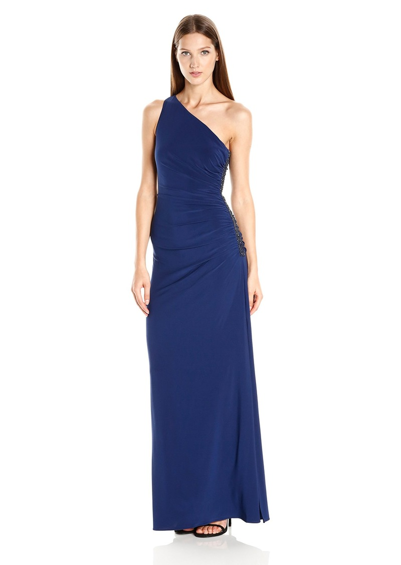 Laundry by Shelli Segal Women's One Shoulder Beaded Gown