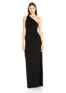 Laundry by Shelli Segal Women's One Shoulder Long Gown