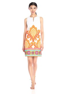 Laundry by Shelli Segal Women's Orange Door Dress