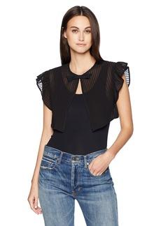 LAUNDRY BY SHELLI SEGAL Women's Pleated Ruffle Vest black