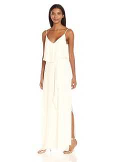 Laundry by Shelli Segal Women's Pop Over Chiffon Gown