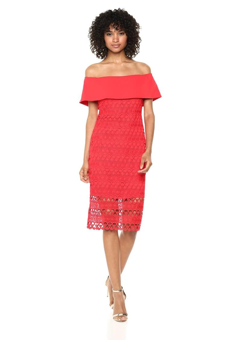 LAUNDRY BY SHELLI SEGAL Women's Portrait Collar Dress