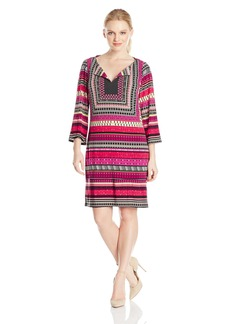 laundry BY SHELLI SEGAL Women's Print 3/4 Sleeve T-Dress