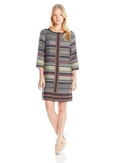 laundry BY SHELLI SEGAL Women's Printed 3/4 Sleeve T-Dress
