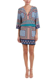 LAUNDRY BY SHELLI SEGAL Women's Printed Dress with Tie Waist  XS