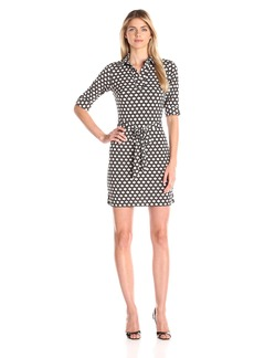 laundry BY SHELLI SEGAL Women's Printed Matte-Jersey Shirt Dress