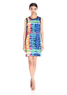 Laundry by Shelli Segal Women's Printed Woven Tank Dress with Side Zips