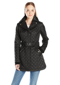 Laundry by Shelli Segal Women's Quilted Jacket with Belt