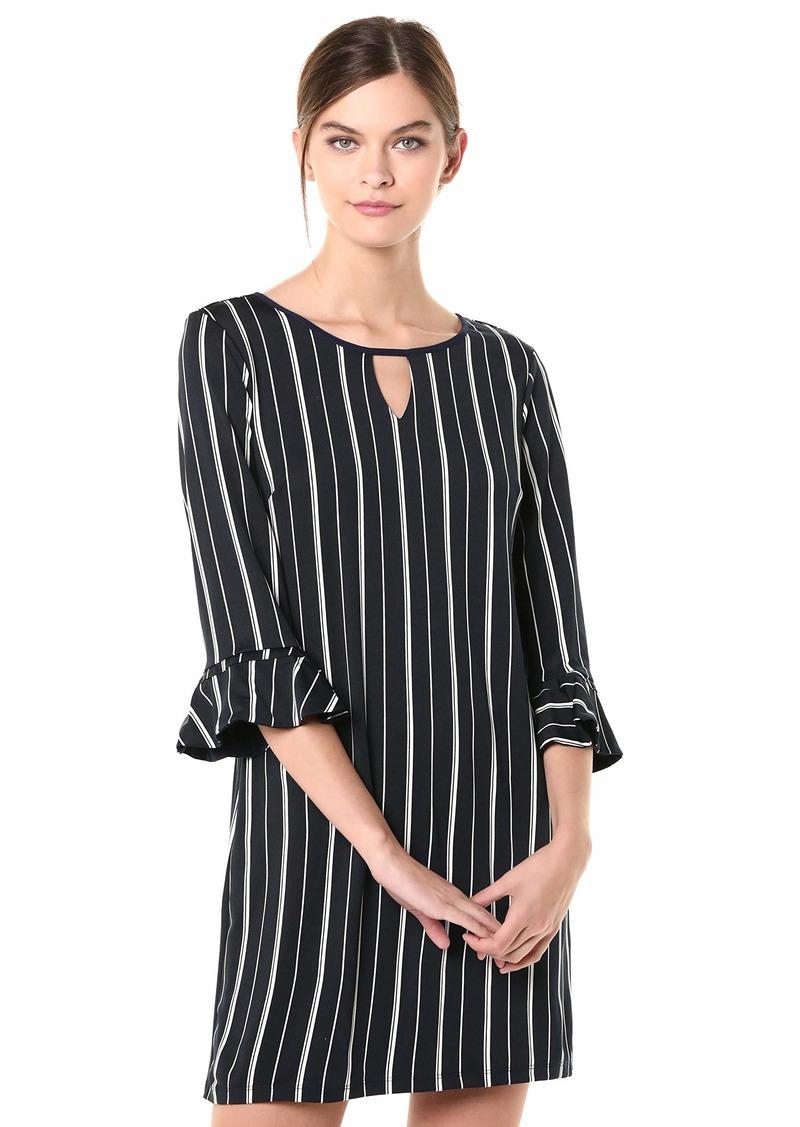 LAUNDRY BY SHELLI SEGAL Women's Reversible Matte Jersey Keyhole Dress  L
