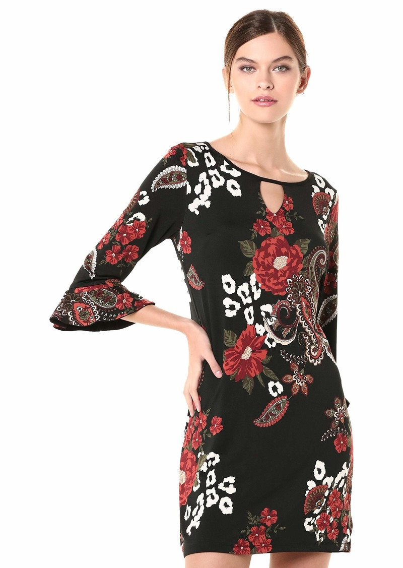 LAUNDRY BY SHELLI SEGAL Women's Reversible Matte Jersey Keyhole Dress  M