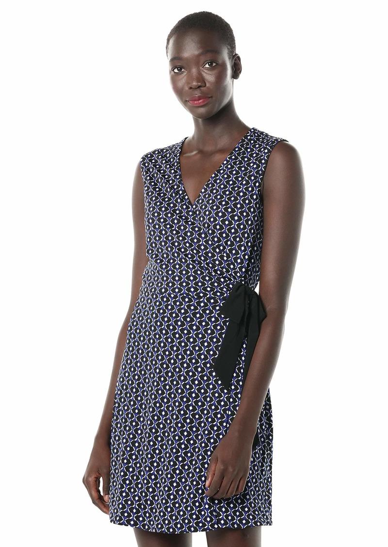 LAUNDRY BY SHELLI SEGAL Women's Reversible Matte Jersey Sleeveless Wrap Dress  S