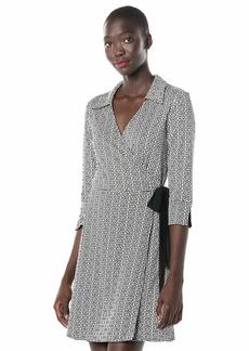 LAUNDRY BY SHELLI SEGAL Women's Reversible Matte Jersey Wrap Dress  M