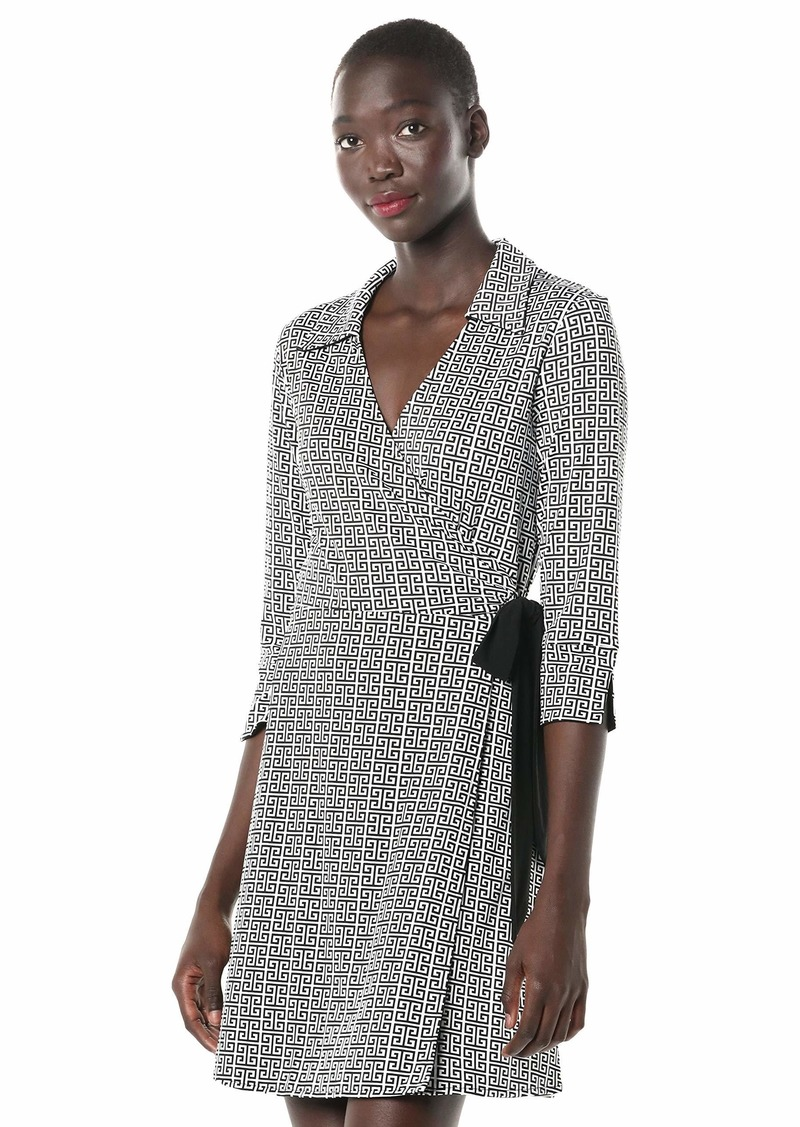 LAUNDRY BY SHELLI SEGAL Women's Reversible Matte Jersey Wrap Dress