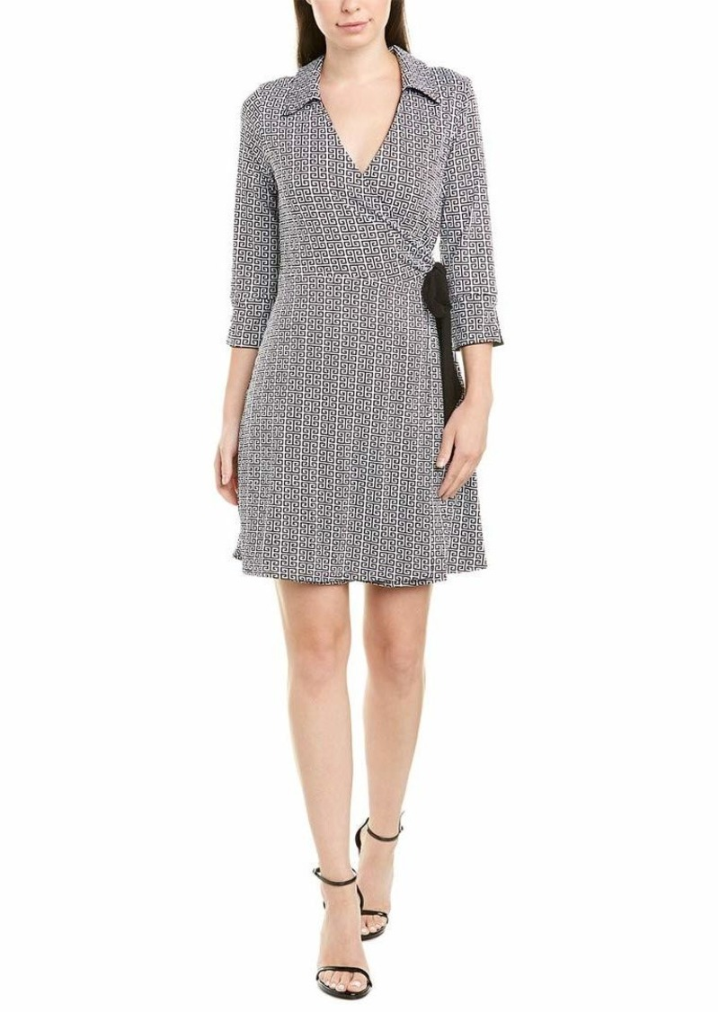 Laundry by Shelli Segal Women's Reversible Matte Jersey Wrap Dress  S