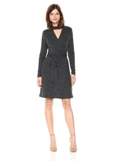 laundry BY SHELLI SEGAL Women's Rib Knit Wrap Dress
