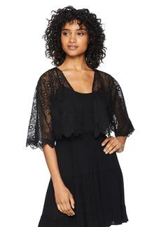 LAUNDRY BY SHELLI SEGAL Women's Romantic Mixed Lace Vest