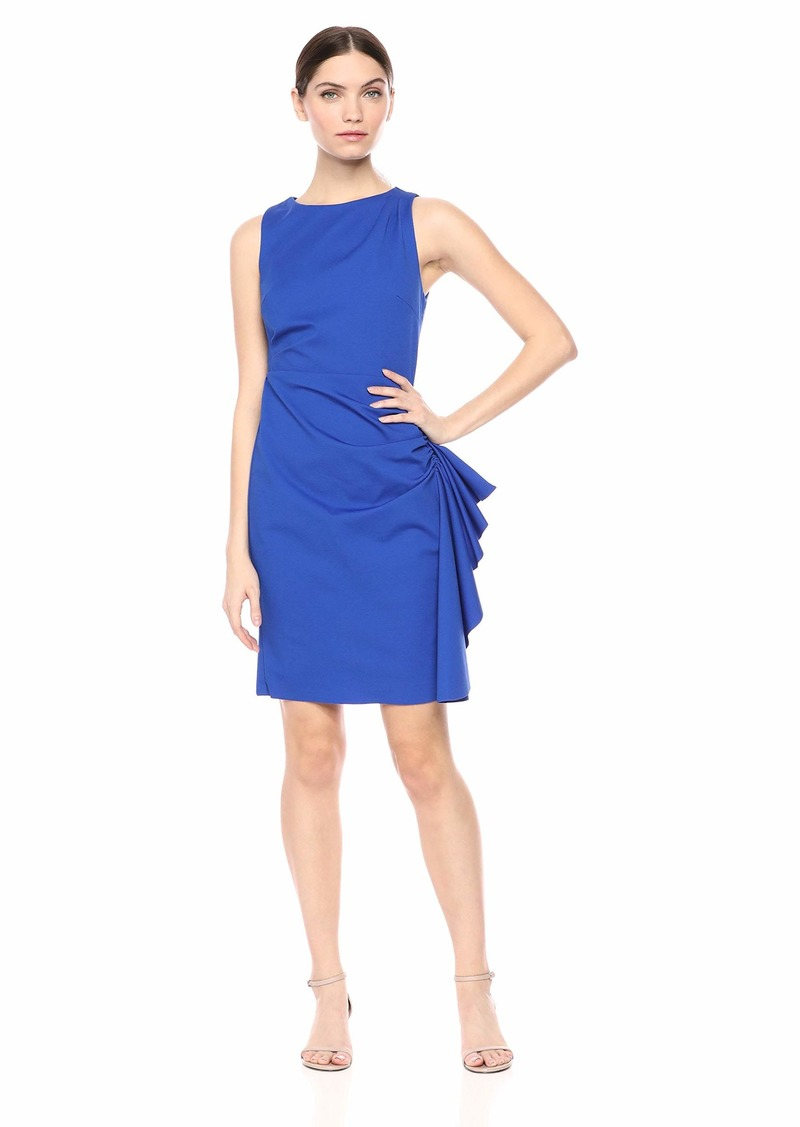 LAUNDRY BY SHELLI SEGAL Women's Ruched Ruffle Dress