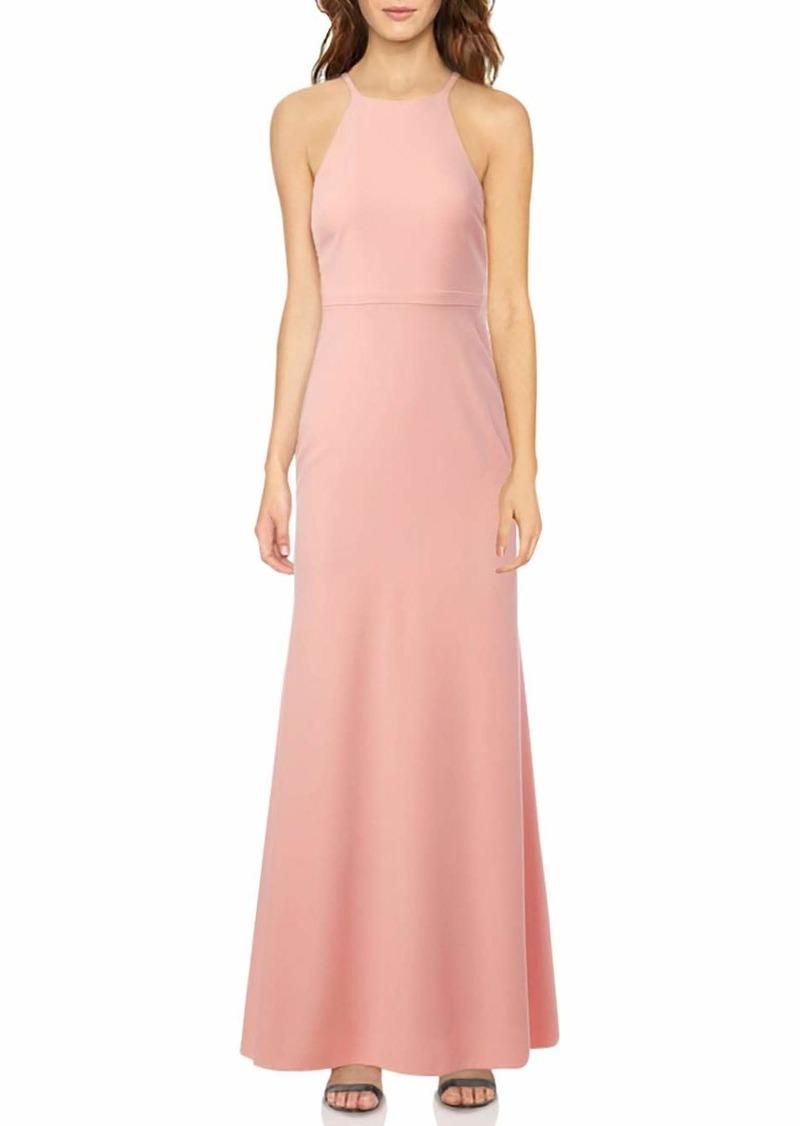 LAUNDRY BY SHELLI SEGAL Women's Ruffle Back Gown
