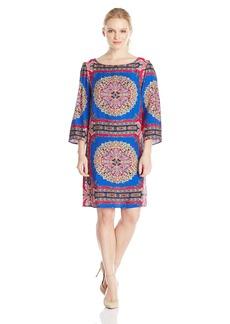 laundry BY SHELLI SEGAL Women's Scarf Print Dress