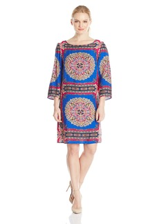 laundry BY SHELLI SEGAL Women's Scarf Print Dress