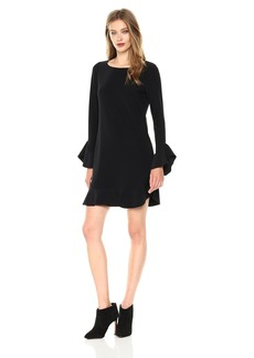 laundry BY SHELLI SEGAL Women's Shift Dress with Ruffle Sleeve and Hem