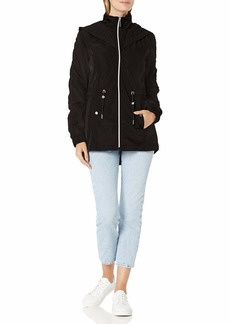 LAUNDRY BY SHELLI SEGAL Women's Short Anorak Windbreaker