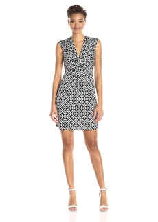 Laundry by Shelli Segal Women's Short Sleeve Empire Waist Dress with Front Twist