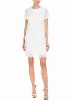 LAUNDRY BY SHELLI SEGAL Women's Short Sleeve Lace Dress