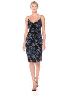 laundry BY SHELLI SEGAL Women's Skinny Strap Burnout Velvet Dress
