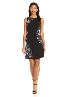 Laundry by Shelli Segal Women's Sleeveless Aline with Embroidery